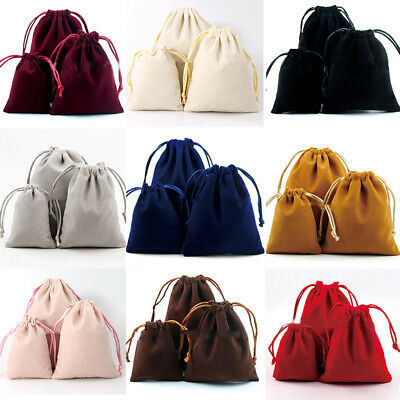 Small Gift Velvet Cloth Jewelry Drawstring Bag Wedding Favors DIY Packing Pouch
