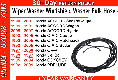Genuine HONDA Wiper Washer Windshield Washer Bulk Hose (4X7X8000) 950030700870M