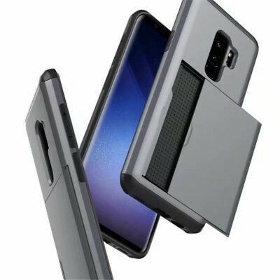 For iPhone XS Max XR X Shockproof Hard Case With Wallet Credit Card Holder