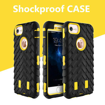Case For iPhone 8 Plus 7 6s 5 X Heavy Duty Tyre Shock Proof Rugged Builder Cover
