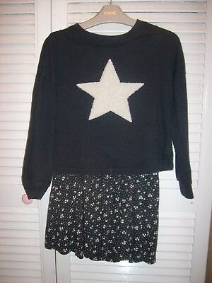 Lovely Girls Next Navy Blue and White Winter Dress age 7 years