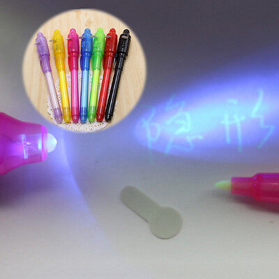 UV Light Pen Invisible Ink Security Marker With Ultra Violet LED Blacklight B0T