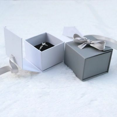 Jewelry Boxes Ribbon Case Ring Earrings Watch Box For Wrist Bangle Bow Gift
