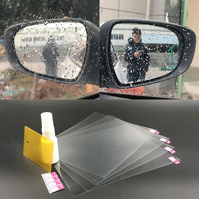 4* Car Waterproof Wing Mirror Film Anti Fog Rainproof Rear View Mirror Film Kits