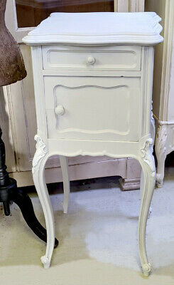 Elegant Antique French Louis Xv  Style  Painted Bedside Table