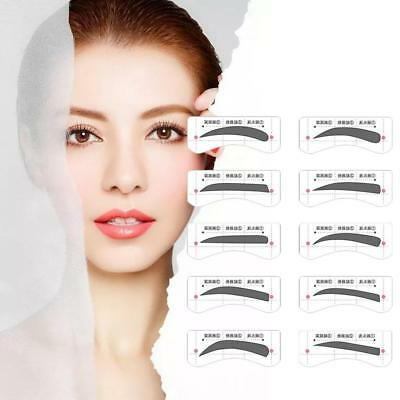 60Pairs Shaper Brow Stencils Eyebrow Template Stickers 11 Types Eye Grooming·New