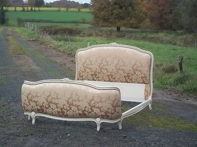 beautiful french vintage louis xv style double corbielle bed
