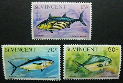 St. Vincent 1976 Meerestiere Fische Fishes Pesci Poissons 448-450 I MNH