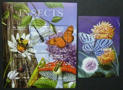 St. Vincent 2001 Insekten Spinnen Insects Spiders 5437-5442 Block 574 MNH
