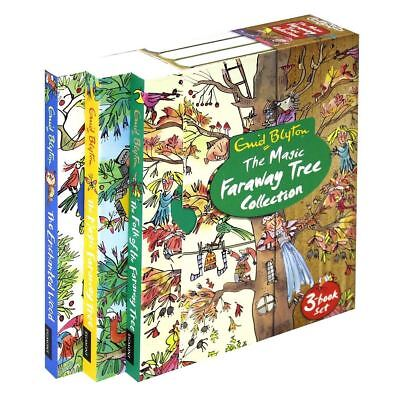 NEW Enid Blyton The Magic Faraway Tree 3 Books Gift Boxed Collection Set Kids!