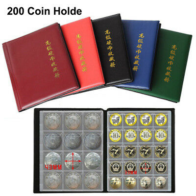 Pro Collecting 200Coin Collection Storage Holder Money Penny Album Book Pockets