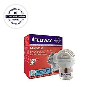 FELIWAY MultiCat CEVA Animal Health Starter Kit for Cats Diffuser and 48 ml Vial