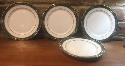 4 Lenox Green Debut Collection KELLY Bone China Bread & Butter Plates
