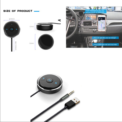 Car 3.5mm jack AUX Bluetooth Adapter Receiver Audio Receiver Support Handle-free