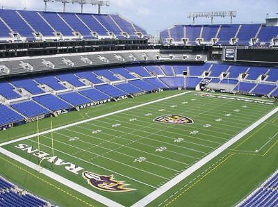TWO BALTIMORE RAVENS TAMPA BAY BUCCANEERS TICKETS Upper Aisle Row 7, 12/16/18 !!