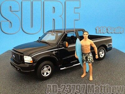 NEW FIGURINE - MATT -Surfer Dude- 1/18 scale figure/figurine - AMERICAN DIORAMA