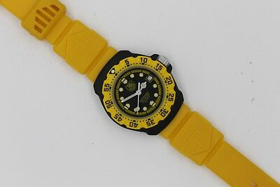 Tag Heuer 380.508 Formula One F1 Watch Womens Black Yellow Rubber Plastic Band