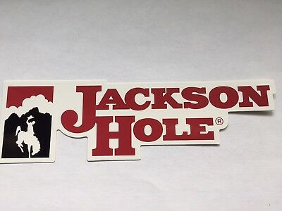 "Jackson Hole Wyoming Ski Resort Sticker (2"" x 7"")"