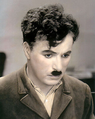 "CHARLIE CHAPLIN CITY LIGHTS 1931 COMIC ACTOR 8x10"" HAND COLOR TINTED PHOTOGRAPH"