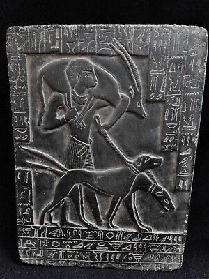 EGYPTIAN ANTIQUE ANTIQUITIES Young Ramses II Hunting Stela Relief 1279-1213 BC
