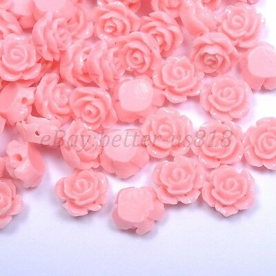 20pcs Pink Gorgeous Rose Flower Coral Loose Spacer Beads 12MM