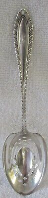 Godroon Towle sterling silver slotted pierced pea ice serving spoon
