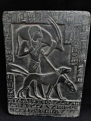 EGYPTIAN ANTIQUES ANTIQUITIES Young Ramses II Hunting Stela Relief 1279-1213 BC
