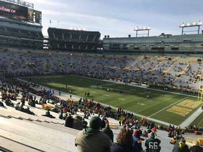 Green Bay Packers vs Detroit Lions 1 Ticket 12/30 Section 109 Row 47