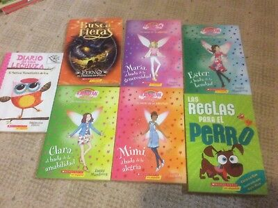 lot of 6 childrens spanish chapter books New  Scholastic ++