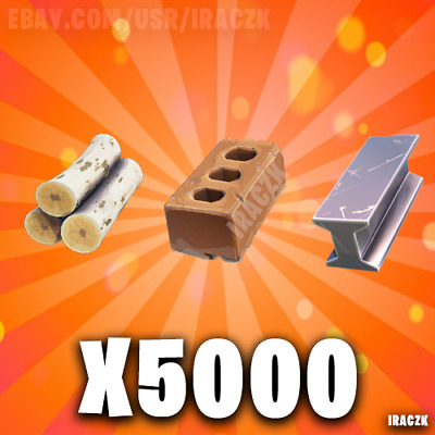 Fortnite Save The World STW | x5000 Wood & Stone & Metal - BEST PRICE!!!
