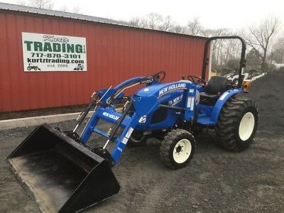 2016 New Holland Workmaster 37 4x4 Diesel Compact Tractor w/ Loader Only 100Hrs!