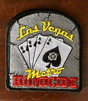 REAL Metro LAS VEGAS NV POLICE HOMICIDE Division patch GMAN not the reproduction