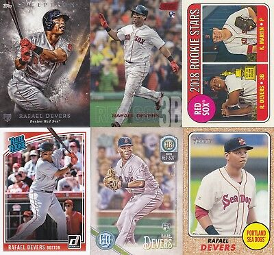 Rafael Devers 2018 Topps & Bowman Rookie Card Lot (10) Boston Red Sox