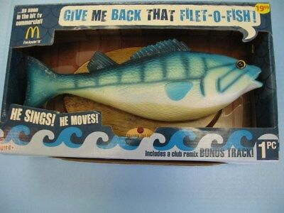 Frankie The Fish Singing McDonald's Filet-O-Fish Toy 2009