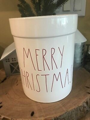 Rae Dunn Merry Christmas Tools Utensil Holder Crock Limited Edt 2018 🎅🏻🦌🎄⛄️