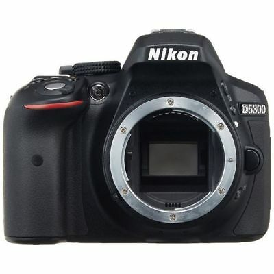 Near Mint! Nikon D5300 24.2 MP Digital SLR Body Black - 1 year warranty