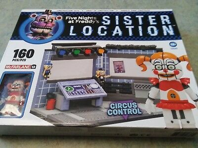 Five Nights At Freddy's Sister Location Circus Control 160 pcs  Brand New Sealed