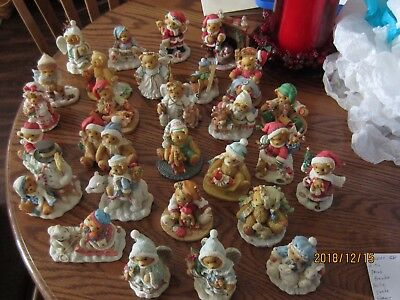 Cherished Teddies Lot Of 28 Christmas Figurines (No Boxes) GREAT CONDITION