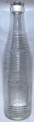 "Rare 1930s 1940s vintage clear glass Hi Klas soda pop bottle 9 1/2"" Lansing MI"