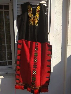 Antique Greek traditional dress & apron from Kavakli.