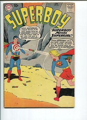 Superboy #80  5.0  Vg/f  Very Early Supergirl!  Original Owner!  Nice Pages!