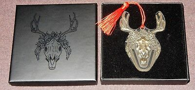 "Mari Lwyd Keepsake 3.2"" Ornament Horse Skull Loot Fright Exclusive +Look-See Pin"