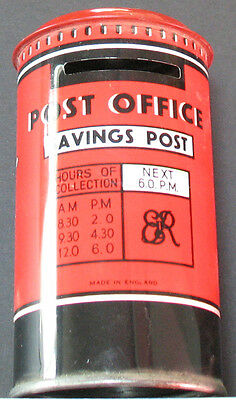 Vintage - Post Office Savings Tin Box For Coins Stamps Etc. Found Old Estate