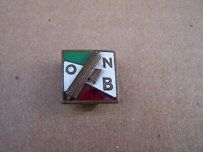Original Fascist Party Enamelled Badge Opera Nazionale Balilla Duce Onb