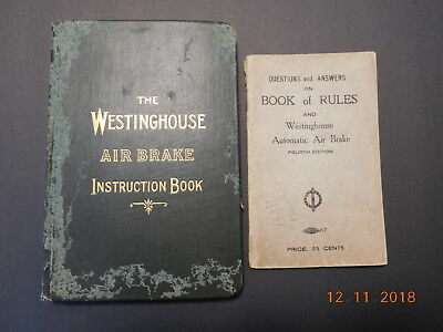 Vintage Westinghouse Air Brake Instruction Book & Q&A Book of Rules Fourth Editi