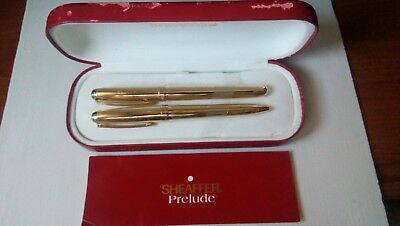 Sheaffer Prelude gold electroplated 23k fountain pen and ballpoint. USA