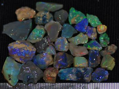 100 Cts Solid Gem Quality Lightning Ridge Rough And Rough Rubbed Opal Parcel 78