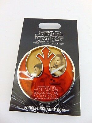 Disney Star Wars Last Jedi Force For Change Limited Edition Jumbo Trading Pin