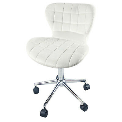 Modern White Butterfly Padded Seat Office Swivel Gas Lift Chair Caster Wheels