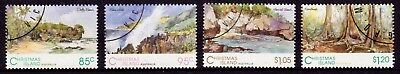 1993 Christmas Island Scenic Views Set of 4, CTO Cancelled to Order